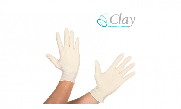GUANTES DE LATEX CLAY