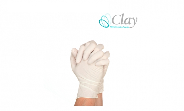 GUANTES DE LATEX CLAY SIN TALCO